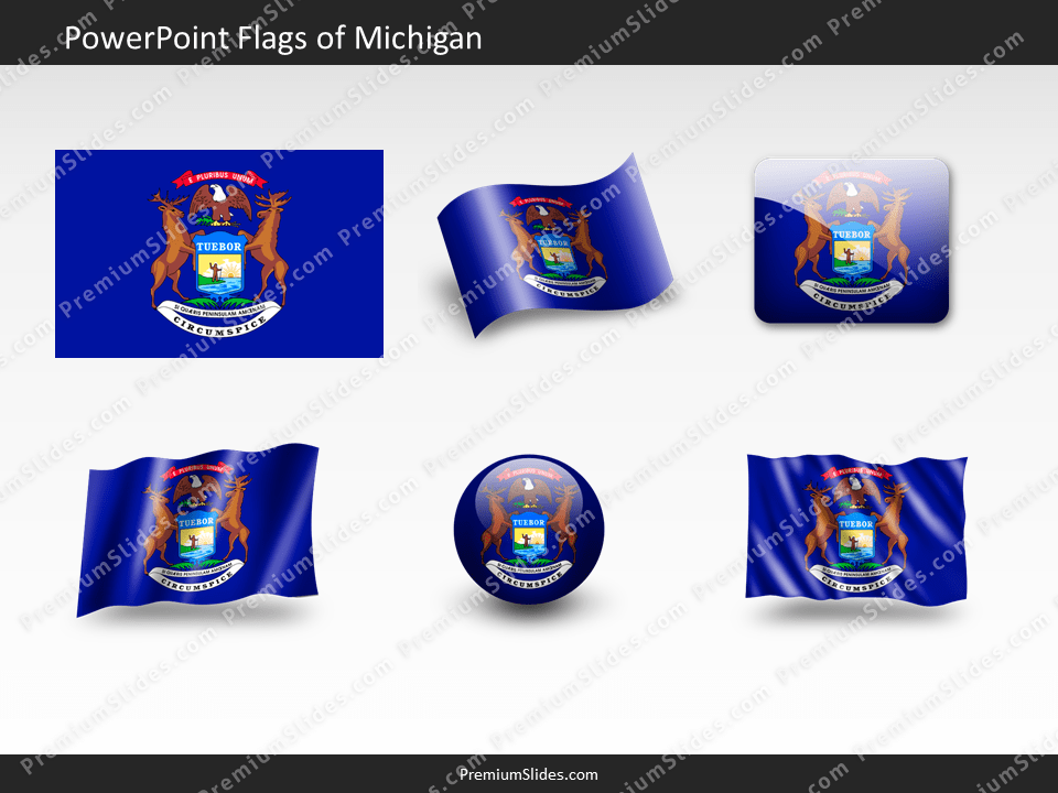 Free Michigan Flag PowerPoint Template