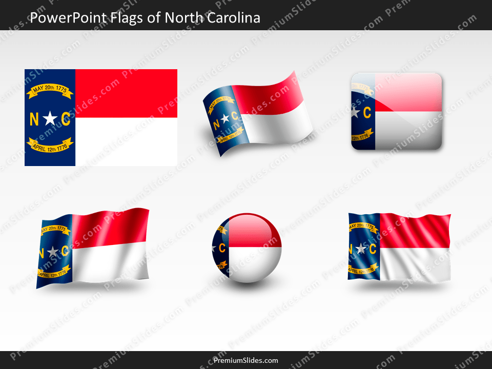 Free North-Carolina Flag PowerPoint Template