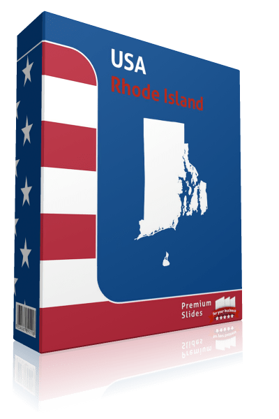 Rhode Island County Map Template for PowerPoint