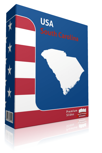 South Carolina County Map Template for PowerPoint
