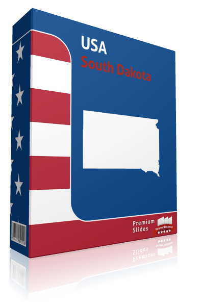 South Dakota County Map Template for PowerPoint