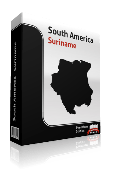 powerpoint map suriname