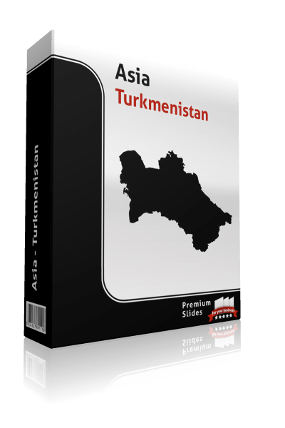 powerpoint map turkmensitan