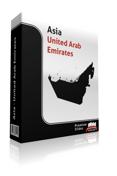 powerpoint map united arab emirates