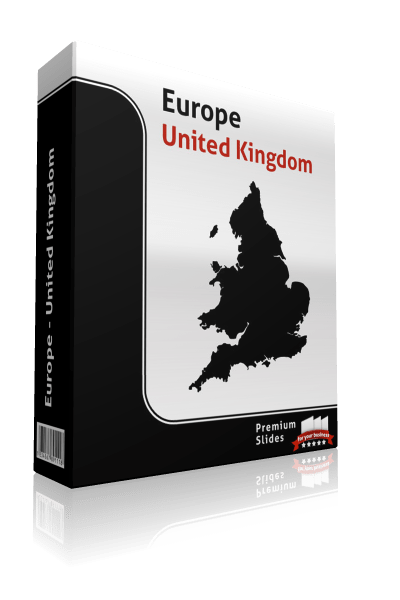 powerpoint map united kingdom
