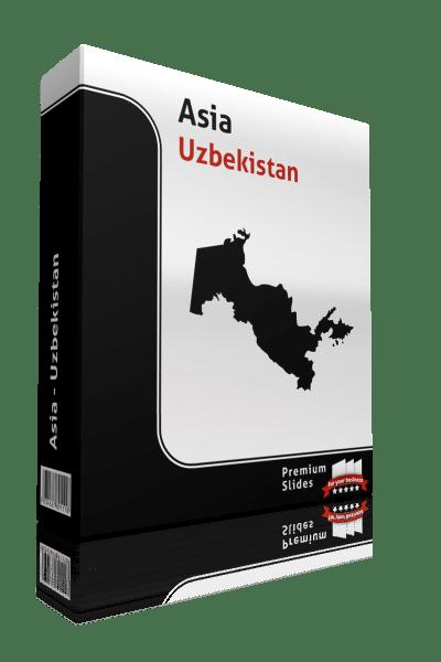 powerpoint map uzbekistan