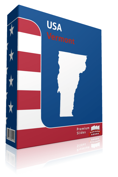 Vermont County Map Template for PowerPoint