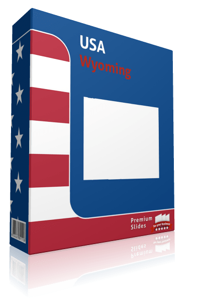Wyoming County Map Template for PowerPoint