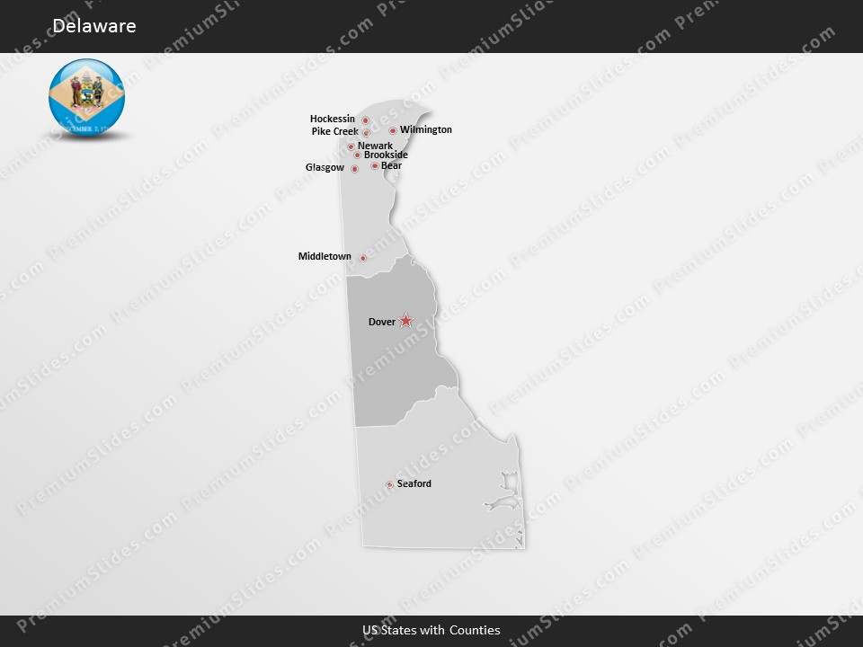 Kentucky County Map Editable%0A Delaware County Map Template for PowerPoint  Slides included in this  package