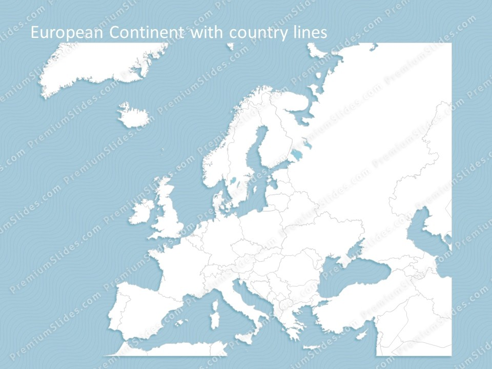 Powerpoint Editable Europe Map on Where Is Nepal On World Map