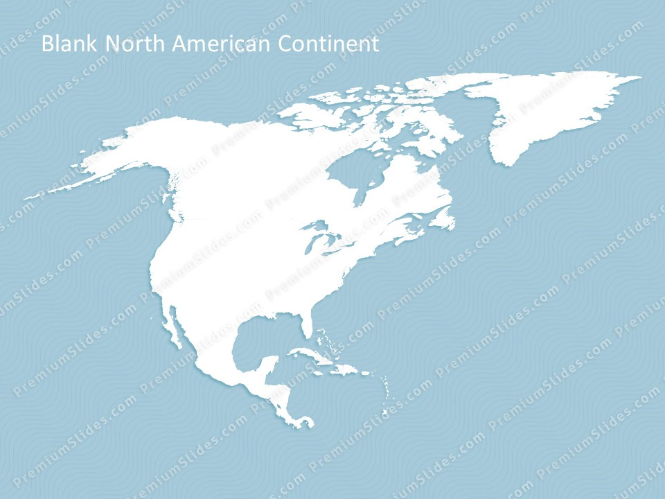 North America Continent Map Editable Map of North America