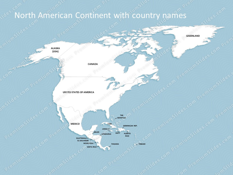 north america continent map