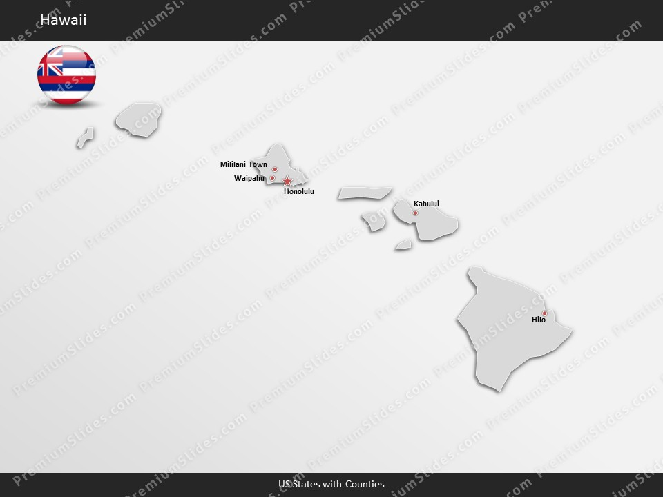 Kentucky County Map Editable%0A Hawaii County Map Template for PowerPoint  Slides included in this package