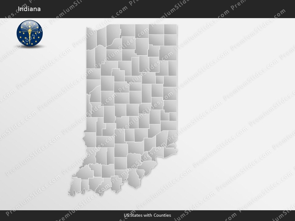 Kentucky County Map Editable%0A Indiana County Map Template for PowerPoint  Slides included in this package