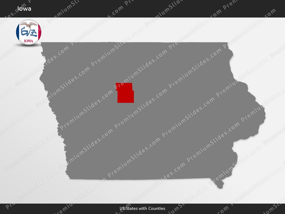 Kentucky County Map Editable%0A Iowa County Map Template for PowerPoint  Slides included in this package