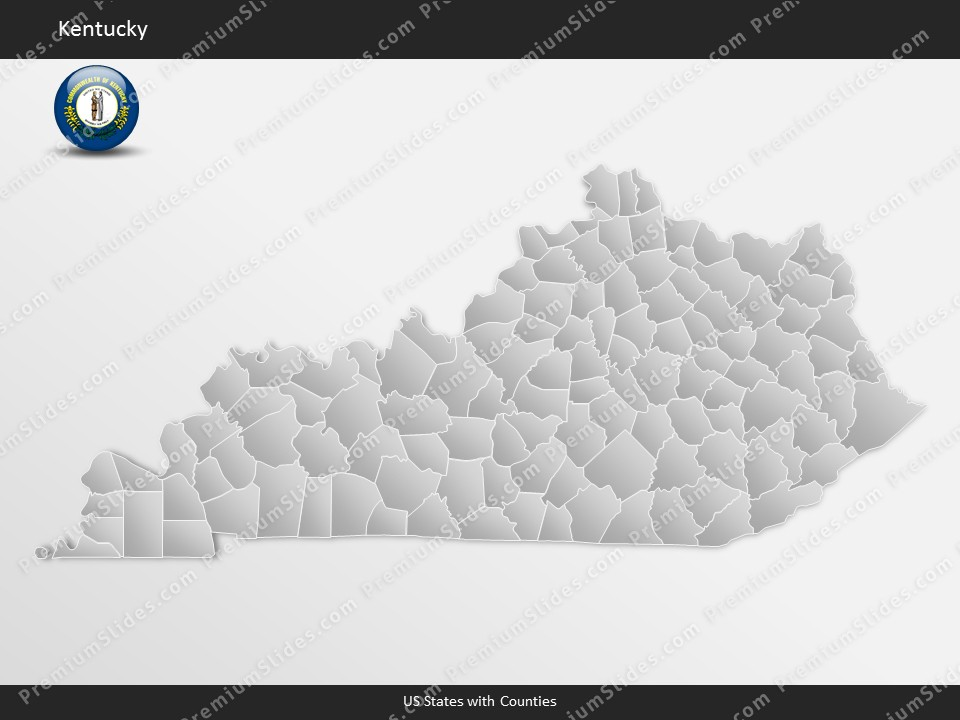 Kentucky County Map Editable%0A Kentucky County Map Template for PowerPoint  Slides included in this  package