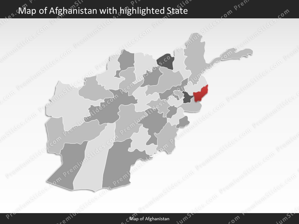 Afghanistan Map Editable Map Of Afghanistan For Powerpoint