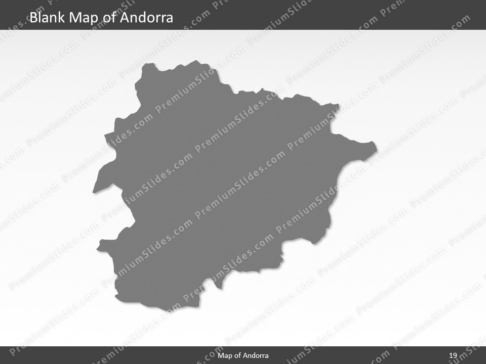 andorra map editable map of andorra for powerpoint