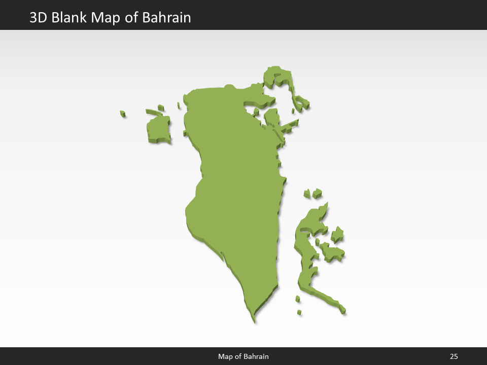 Bahrain Map - Editable Map of Bahrain for PowerPoint ▻ Download ...