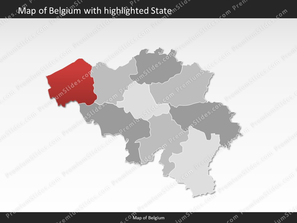 powerpoint map belgium slides included in this package