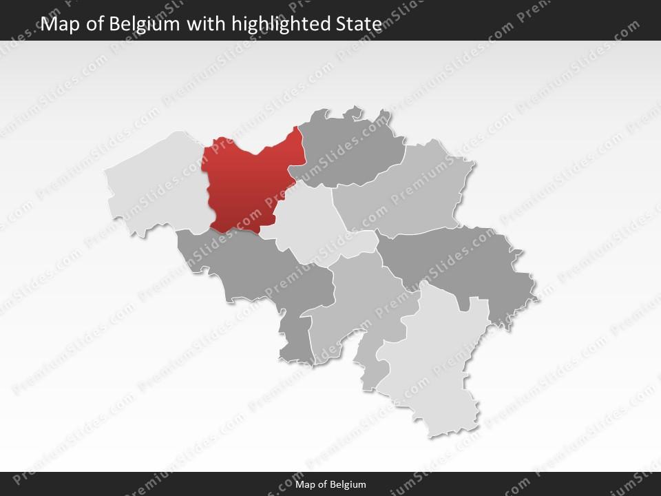 belgium map editable map of belgium for powerpoint