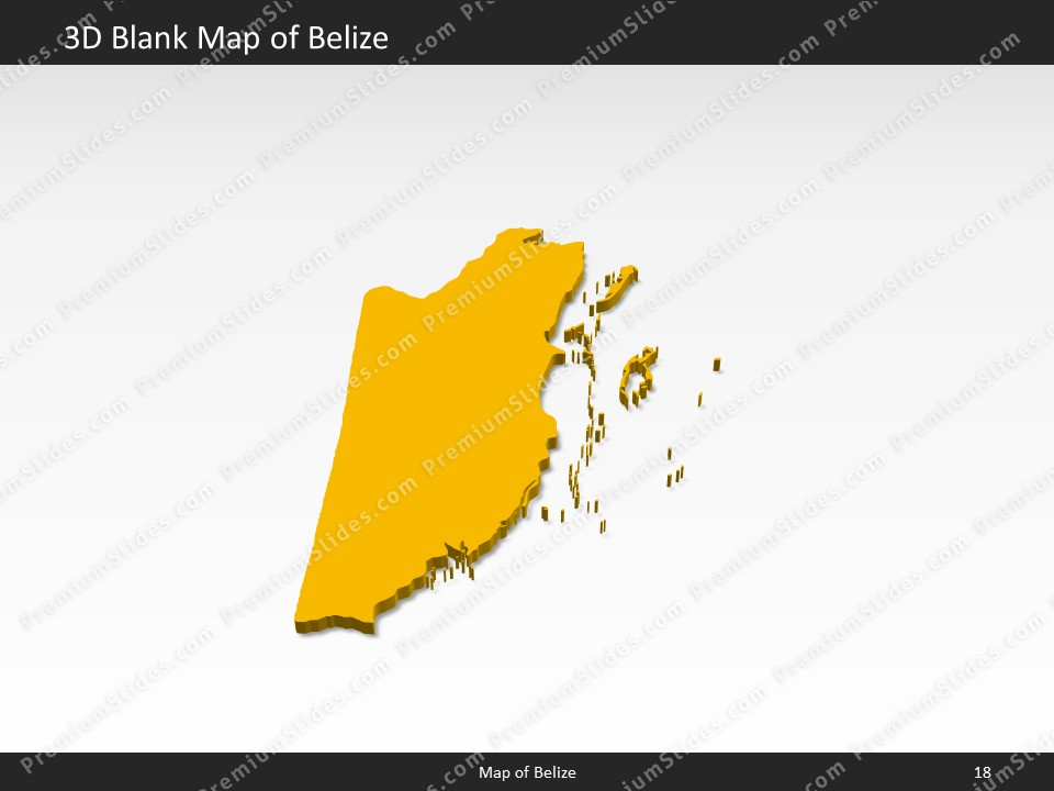 Belize Map - Editable Map of Belize for PowerPoint ▻ Download ...