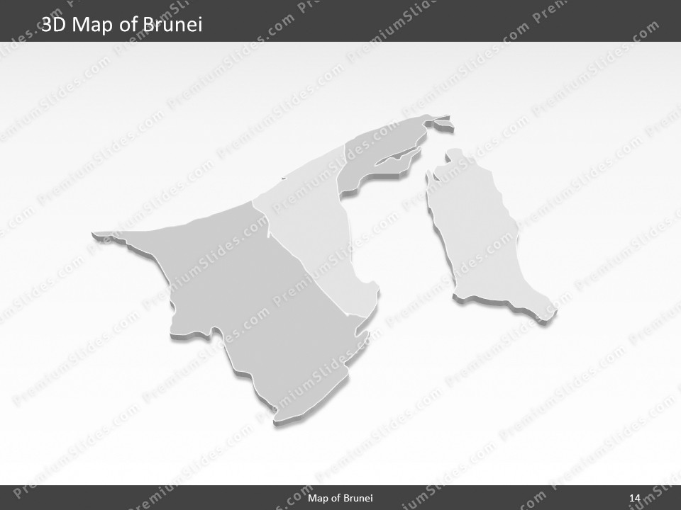 Brunei Map - Editable Map of Brunei - Template for PowerPoint