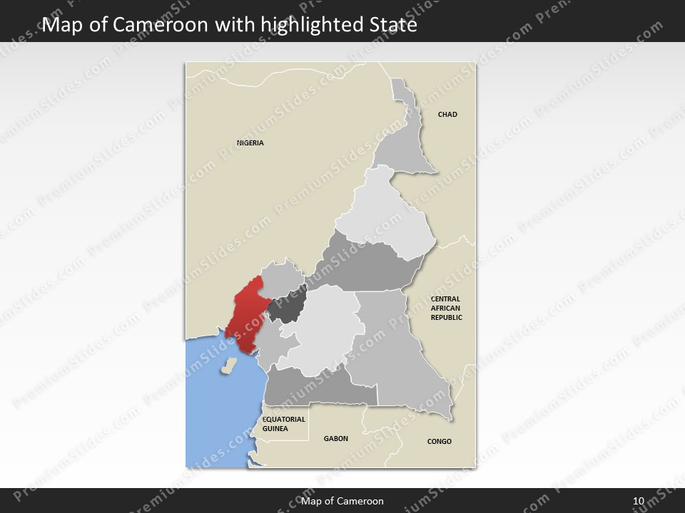 Cameroon map editable map of cameroon for powerpoint download powerpoint map cameroon slides included in this package ccuart Choice Image