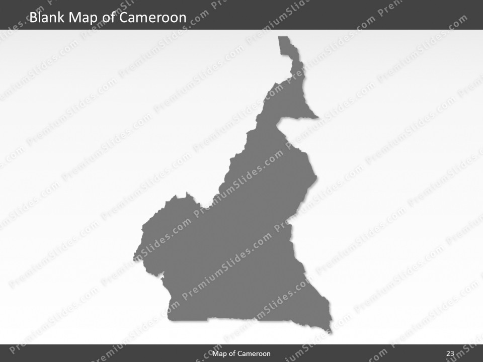 Cameroon Map - Editable Map of Cameroon - Template for PowerPoint on blank map of turkey, blank map of latvia, blank map of comoros, blank map of burma, blank map of commonwealth of independent states, blank map of asia region, blank map of indian ocean islands, blank map of the czech republic, blank map of gabon, blank map of rodrigues, blank map of u.s.a, blank map of africa, blank map of sudan, blank map of philippines, blank map of us virgin islands, blank map of western sahara, blank map of tortola, blank map of eritrea, blank map of st martin, blank map of palau,