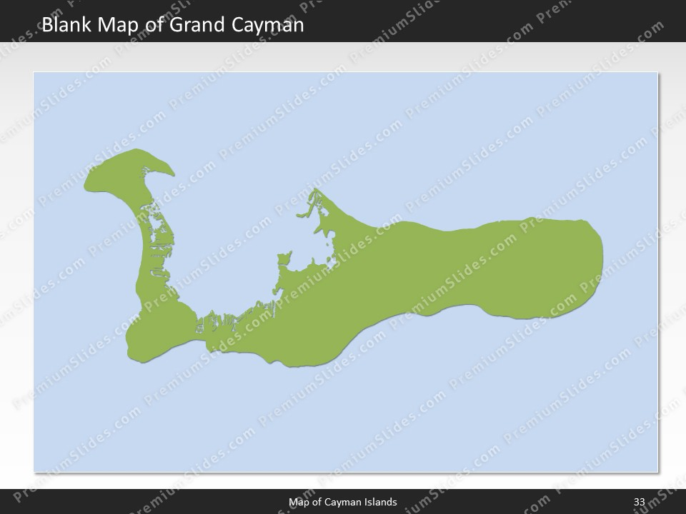 Cayman Islands Map - Editable Map of Cayman Islands for PowerPoint on