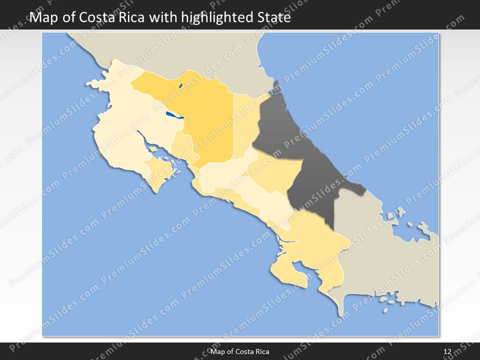 Costa rica map editable map of costa rica for powerpoint powerpoint map costa rica slides included in this package gumiabroncs Images