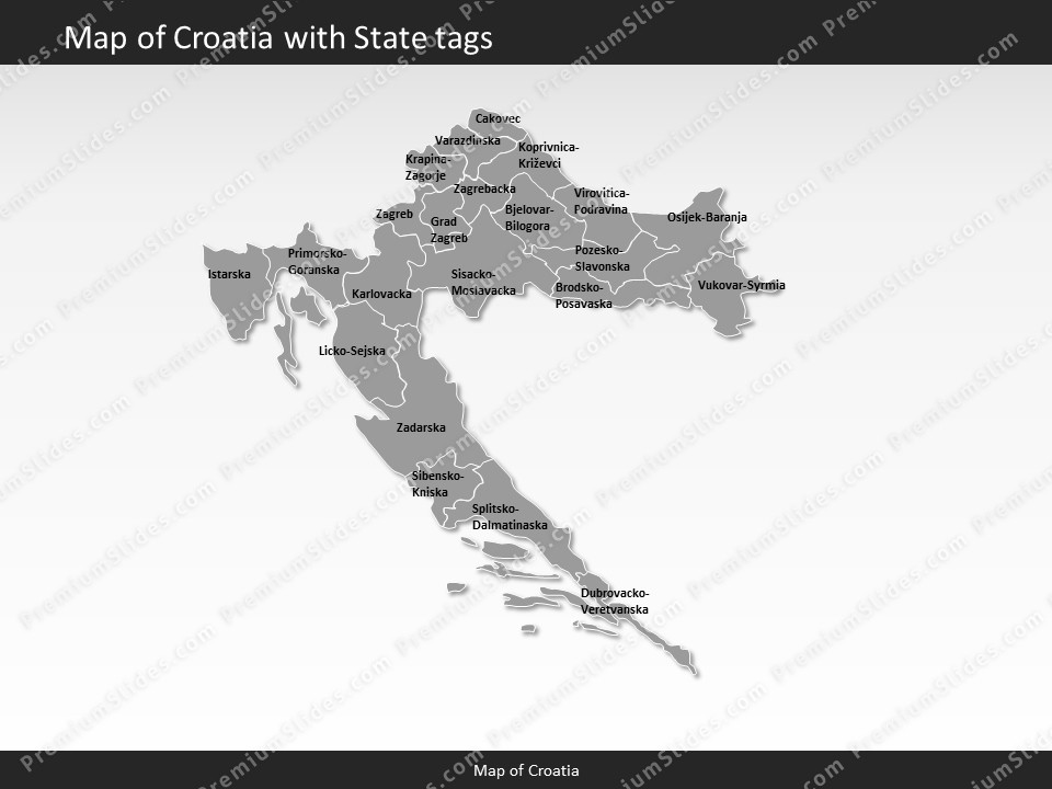 Kentucky County Map Editable%0A powerpointmapcroatia  Slides included in this package