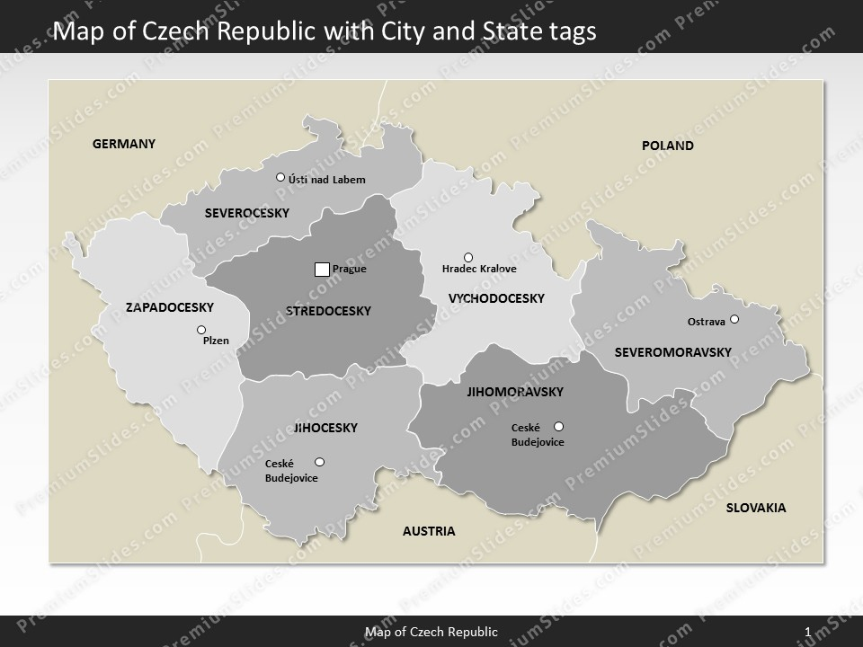 Kentucky County Map Editable%0A powerpoint map czech republic  Slides included in this package