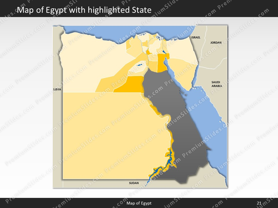 Egypt map editable map of egypt for powerpoint download powerpoint map egypt slides included in this package gumiabroncs Image collections