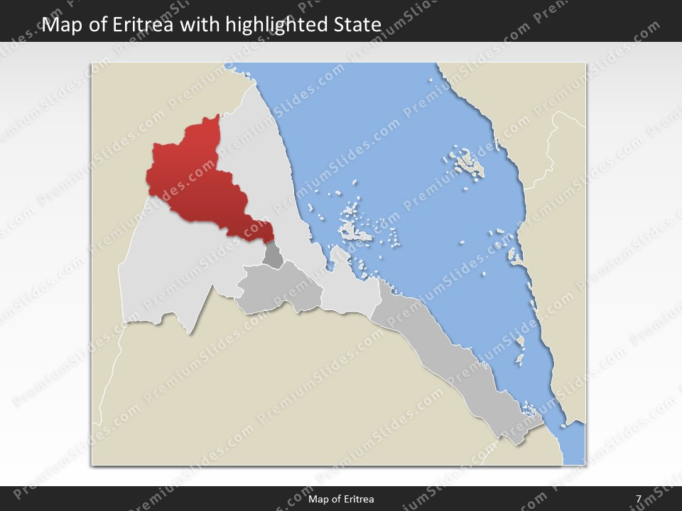 Kentucky County Map Editable%0A powerpoint map eritrea  Slides included in this package