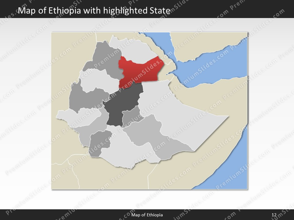 powerpoint map ethiopia Slides included in this