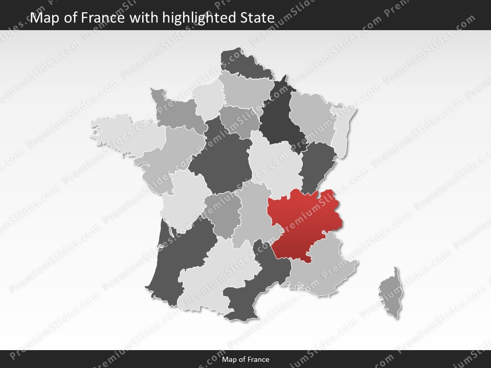 France map editable map of france for powerpoint download powerpoint map france slides included in this package gumiabroncs Images