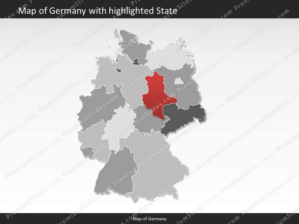 Germany map editable map of germany for powerpoint download powerpoint map germany slides included in this package gumiabroncs Image collections