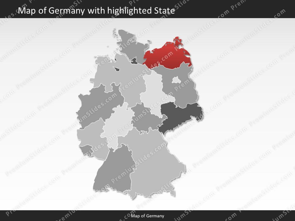 Germany map editable map of germany for powerpoint download powerpoint map germany slides included in this package gumiabroncs Choice Image