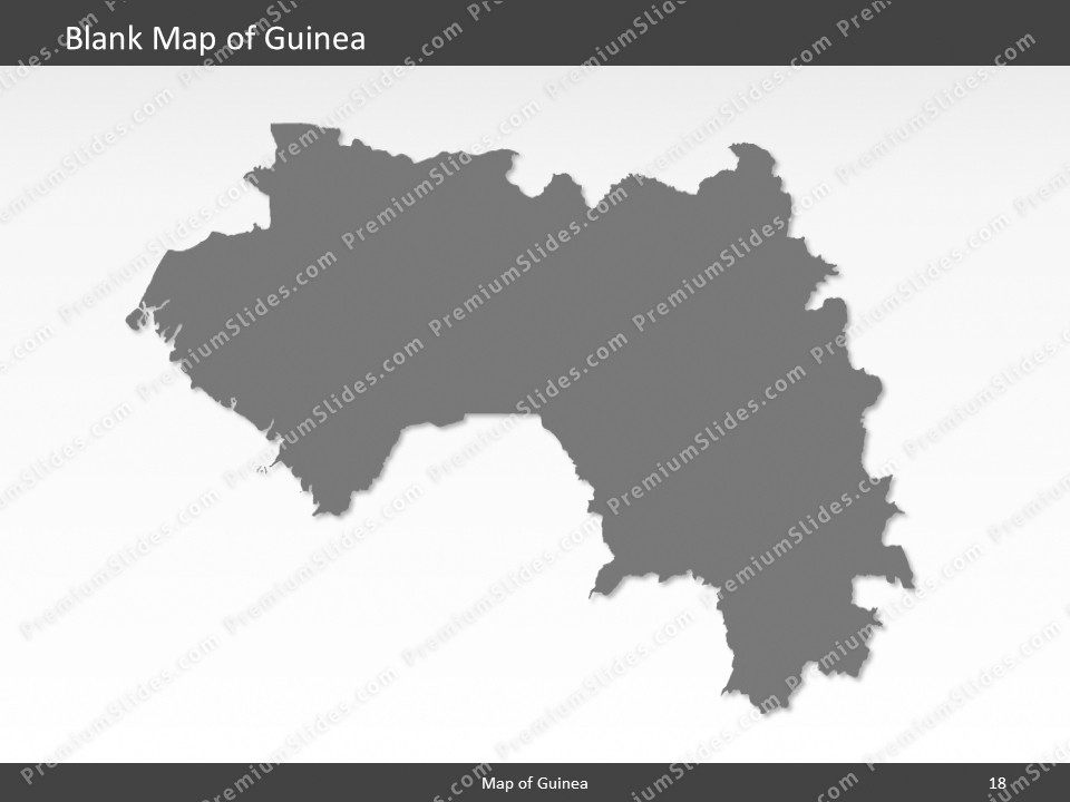 guinea map editable map of guinea for powerpoint