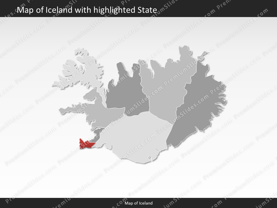 Iceland map editable map of iceland for powerpoint download powerpoint map iceland slides included in this package gumiabroncs Gallery