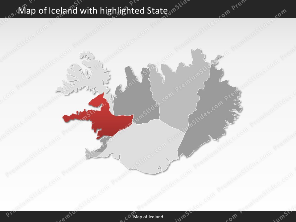 Iceland map editable map of iceland for powerpoint download powerpoint map iceland slides included in this package gumiabroncs Images