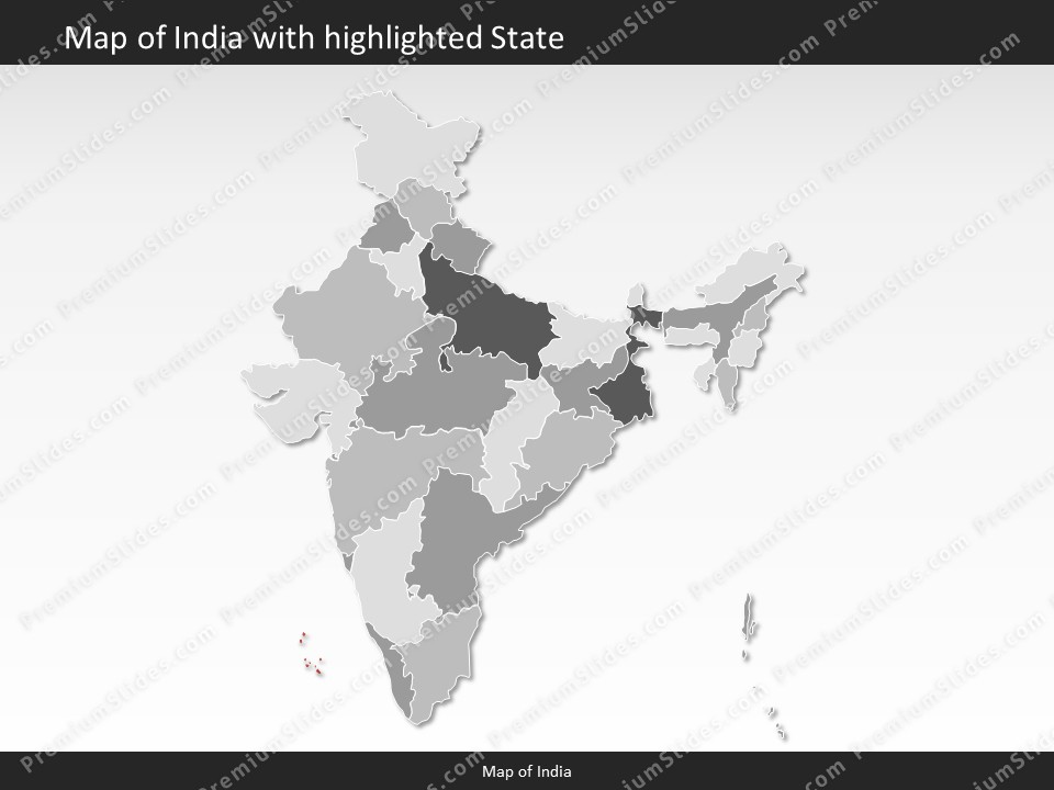 India map editable map of india for powerpoint download for India map ppt template