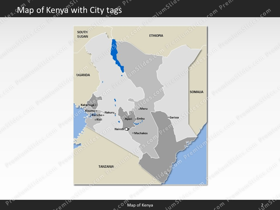powerpoint map kenya slides included in this package