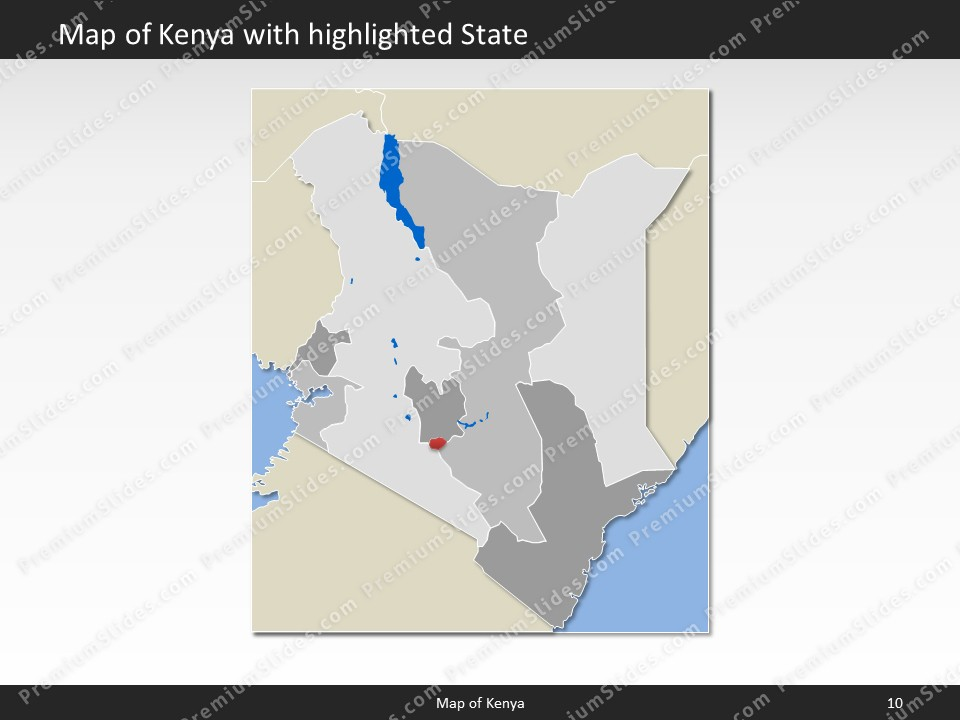 Kenya map editable map of kenya for powerpoint download powerpoint map kenya slides included in this package gumiabroncs Choice Image