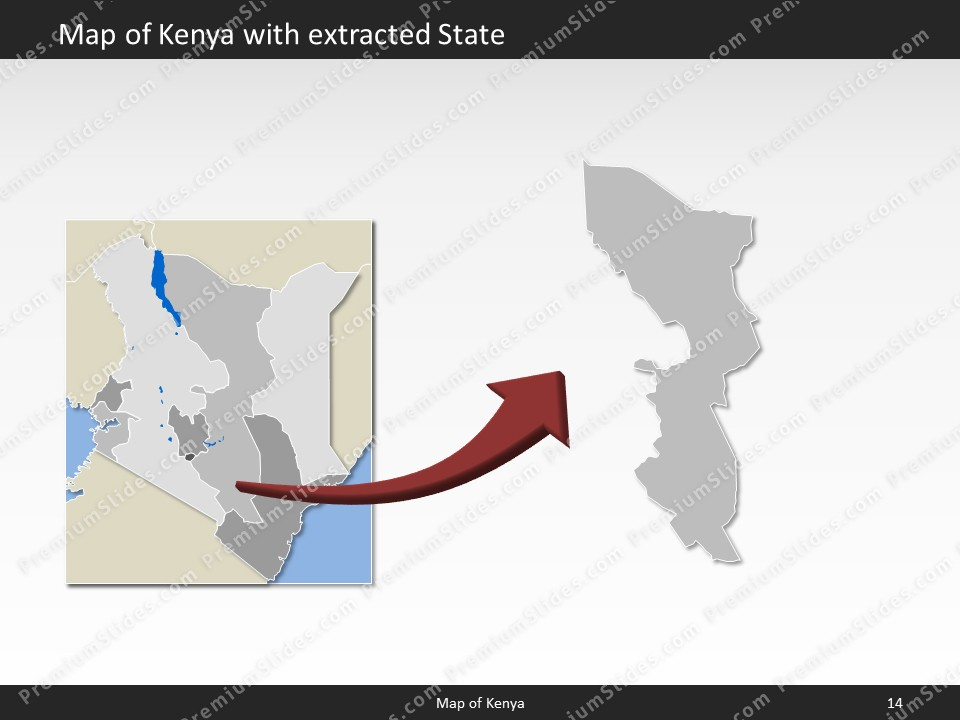 Kenya map editable map of kenya for powerpoint download powerpoint map kenya slides included in this package gumiabroncs Images