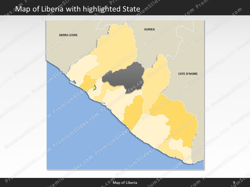Liberia Map Editable Map Of Liberia For Powerpoint Download