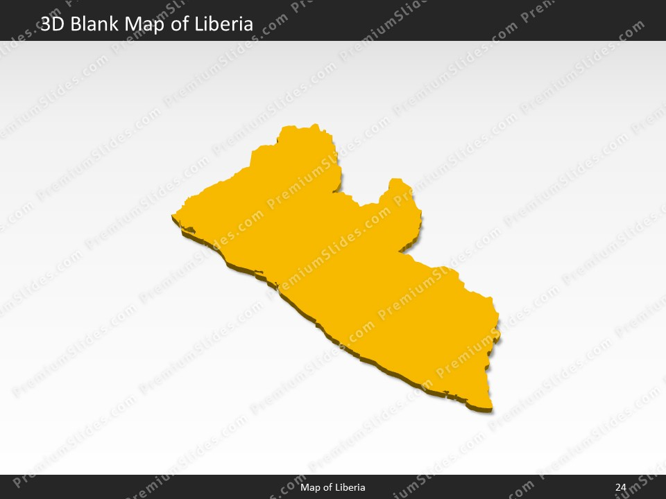 Liberia Map - Editable Map of Liberia for PowerPoint ▻ Download ...