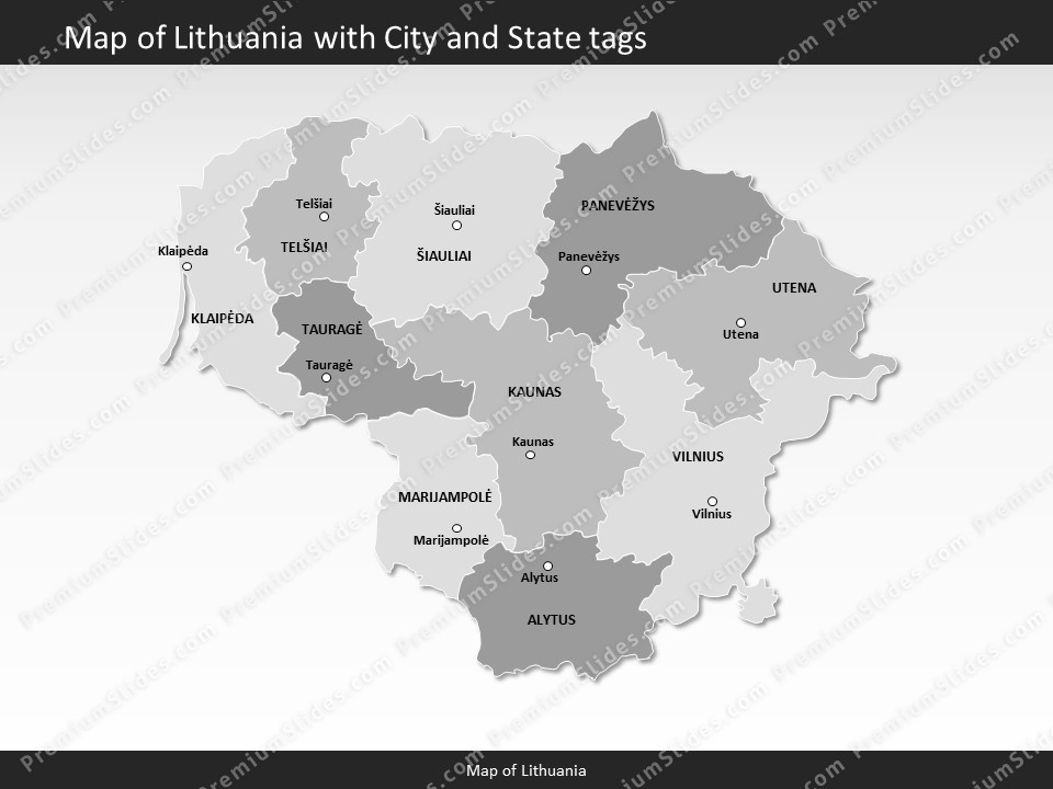 Kentucky County Map Editable%0A powerpointmaplithuania  Slides included in this package