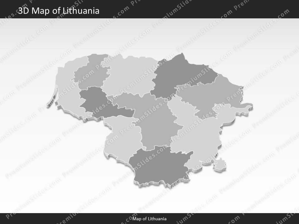 lithuania map editable map of lithuania for powerpoint